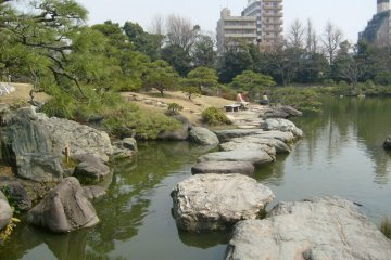 <p>&#39;Iso-watari&#39;, one of the stepping stone paths</p>