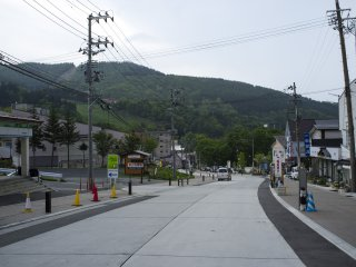 Along the main street in Zao Onsen Town