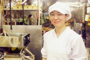 Hamaguchi-san, the main chef at the Okanoeisen Bakery in Ueno