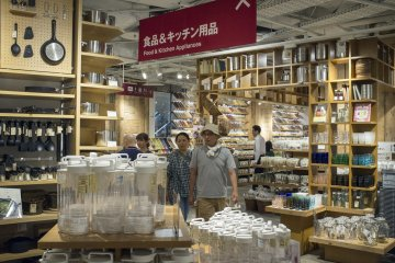 <p>The food and kitchen section at the basement floor</p>