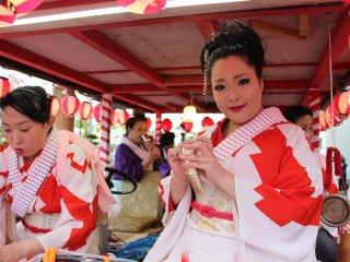 あわら温泉で30数年ぶりに生まれた舞妓としてデビューした糸扇家ひさ乃さん。今ではすでに芸妓となり大活躍である