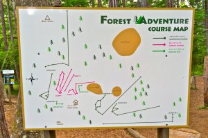 Here's an overview of the Forest Adventure course map which includes the Adventure Course and Canopy Course.