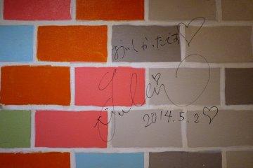 <p>Graffiti left by a happy customer</p>