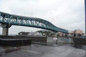 Bridge crossing to Hakkeijima Sea Paradise