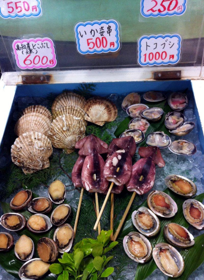 Seafood for BBQ at Iki-ikikan