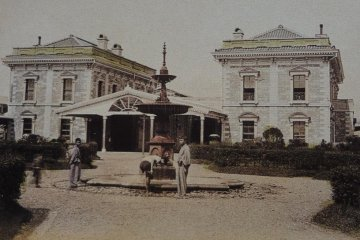 Yokohama's first train station.