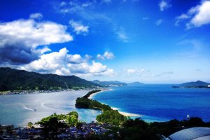 The jewels of Amanohashidate is a short bicycle, taxi or ferry ride from the ryokan