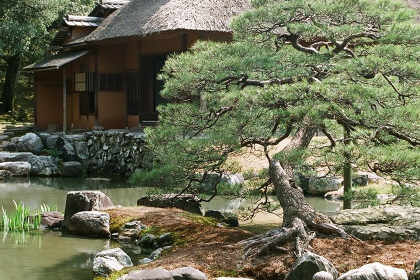 One of Japan\'s best landscaped gardens is hidden behind the closed-off walls of Katsura Imperial Villa.