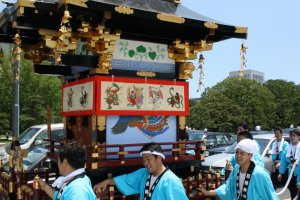 The Sanno Matsuri parade leaving the Imperial Palace