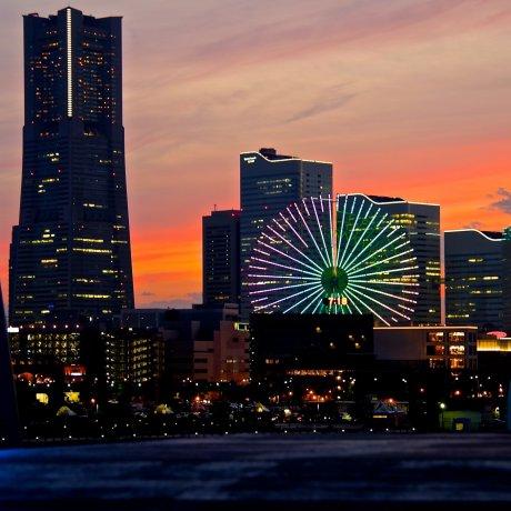 Sunset at Osanbashi Pier, Yokohama