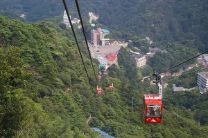 Take the easy way by ropeway, or climb the cliffs.