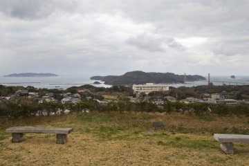 <p>Have a seat and enjoy the view out to sea; you can see the distant islands of&nbsp;Iki and Tsushima&nbsp;on a clear day</p>