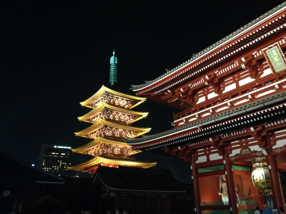 Main hall and five story pagoda