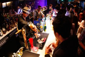 Mixologist plying his trade