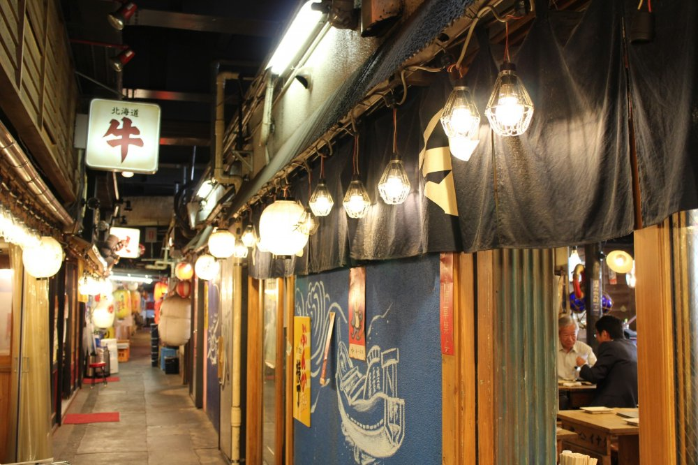 InsideYurakucho Sanchoku Inshokugai. Only consisting of restaurants, this street has a very traditional and pleasant atmosphere.