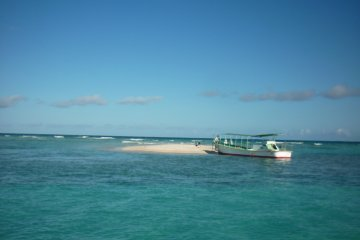 Yurigahama is easy to reach by boat and good for snorkelling