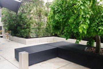 <p>Outdoor courtyard</p>