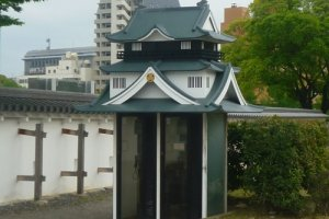 Castle shaped telephone box, Okazaki Castle