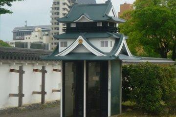 Castle shaped telephone box, Okazaki Castle