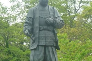 Tokugawa Ieyasu gazes over his castle grounds at Okazaki