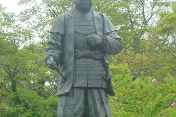 Tokugawa Ieyasu gazes over his castle grounds at Okazaki