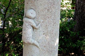시라히게 신사(白髭神社)의 즐거운 동물들
