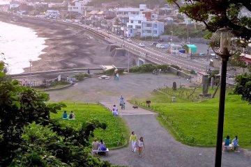 七里濱海灘的日落