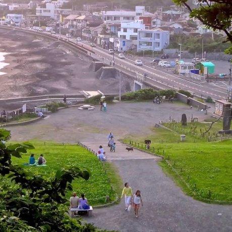 七里ケ浜の夕日