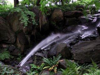Đây là 'Thác nước dự trữ'. Nước chảy từ nơi thấp đến nơi cao hơn. Tôi thấy rồi! Đó là sự chống lại thiên nhiên!