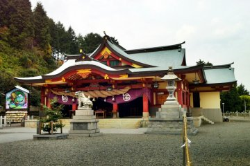 The main hall of Ishizuchi Shrine