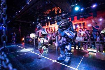 Dancing robots.