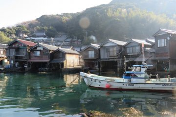 The enchanting boat houses at Ine