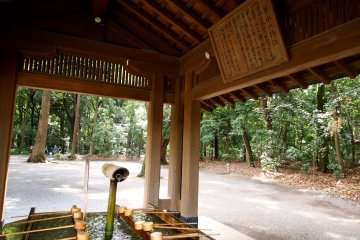 <p>At every entrance to the shrine are ritual cleaning fountains, at which worshippers rinse their hands and mouths</p>