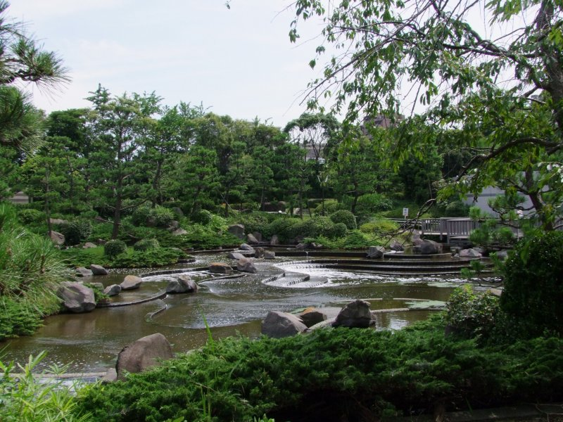 <p>A look at the beautifully landscaped pond</p>
