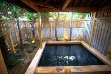 One of the outdoor onsen