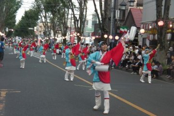 <p>Sakado Yosakoi&nbsp;festival - groups from the local community (from restaurants to health organizations) dance in unison for several hours&nbsp;</p>
