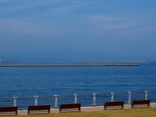 Take a seat and enjoy the view of Mutsu Bay