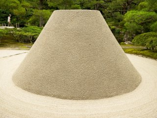 Part of the stone garden, who knew a mountain of sand could look so beautiful.