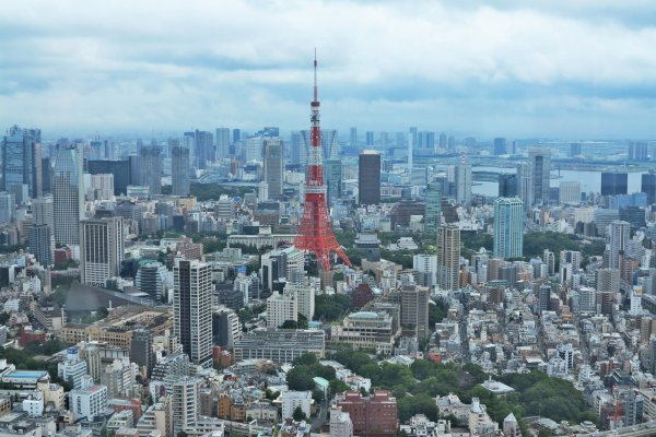 从六本木森大厦看到的东京塔