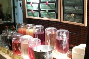 A colorful selection of drinks worthy of any potions master