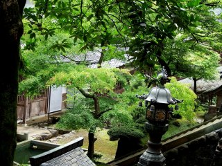 Looking down at one of the courtyards of Eiheiji temple
