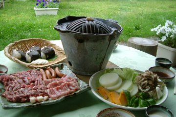 <p>Jingisukan (Genghis Khan) dishes are part of Tono culture</p>
