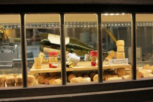 The display window of a French restaurant