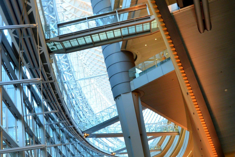 Interior of Tokyo International Forum