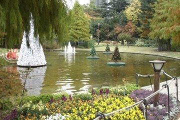 The beautiful grounds of Ran No Yakata