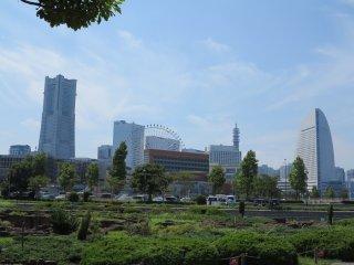 横滨cosmo world乐园和landmark 大厦