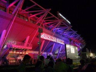 Night view of Ajinomoto Stadium