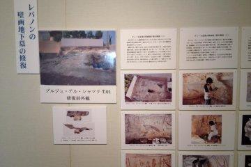 Lebanon excavation display