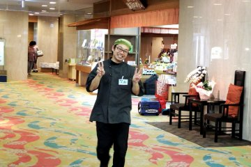 <p>One of the hotel staff, Mr. Akira, who was in charge of our group</p>