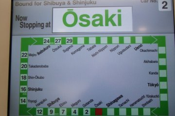 JR Yamanote screen map